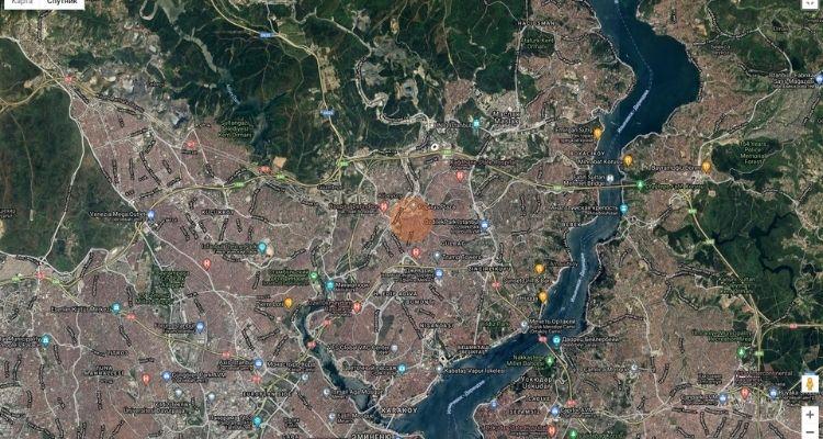 JB Panorama on map