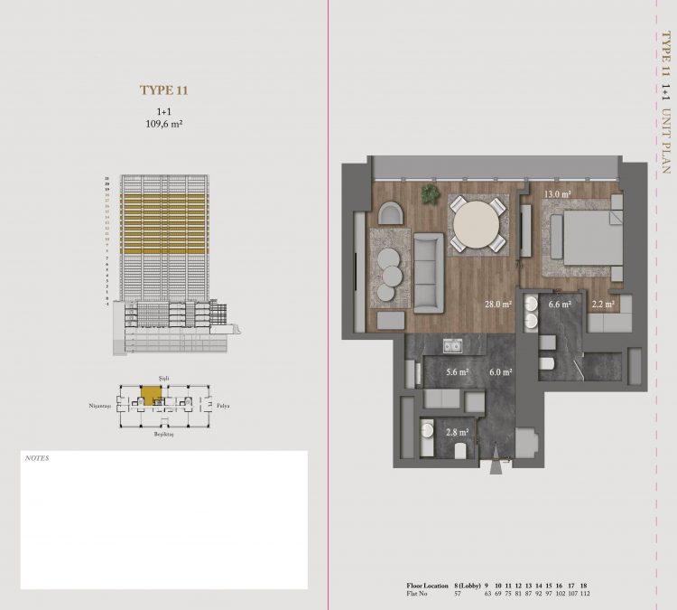 Планировка апартаментов Ritz-Carlton